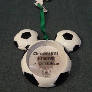 Disney Mickey Head Soccer Ball Ornament Frame